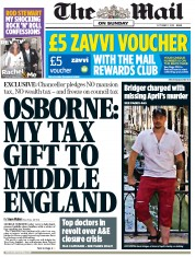 The Mail on Sunday () Newspaper Front Page for 7 October 2012