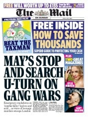 The Mail on Sunday (UK) Newspaper Front Page for 8 April 2018