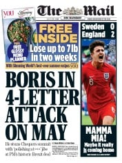The Mail on Sunday (UK) Newspaper Front Page for 8 July 2018