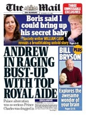 The Mail on Sunday (UK) Newspaper Front Page for 8 September 2019