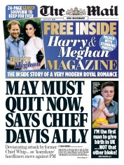 The Mail on Sunday (UK) Newspaper Front Page for 9 July 2017