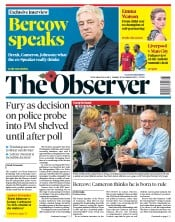 The Observer (UK) Newspaper Front Page for 10 November 2019