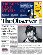 The Observer front page for 10 January 2021