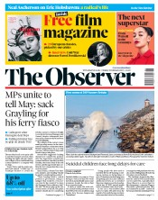 The Observer (UK) Newspaper Front Page for 10 February 2019