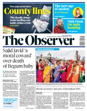 The Observer (UK) Newspaper Front Page for 10 March 2019