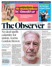 The Observer (UK) Newspaper Front Page for 11 August 2019