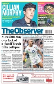 The Observer () Newspaper Front Page for 12 March 2017