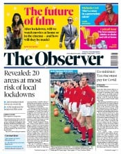 The Observer front page for 12 July 2020