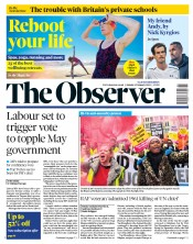The Observer (UK) Newspaper Front Page for 13 January 2019