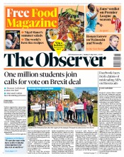 The Observer (UK) Newspaper Front Page for 13 May 2018