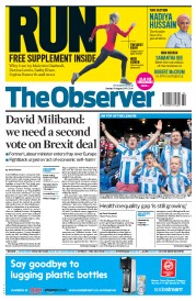 The Observer (UK) Newspaper Front Page for 13 August 2017