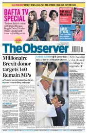 The Observer (UK) Newspaper Front Page for 14 May 2017