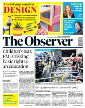 The Observer front page for 14 June 2020