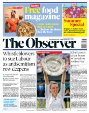 The Observer (UK) Newspaper Front Page for 14 July 2019