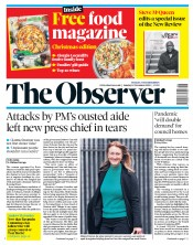 The Observer front page for 15 November 2020