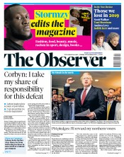 The Observer () Newspaper Front Page for 15 December 2019