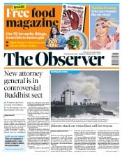 The Observer (UK) Newspaper Front Page for 16 February 2020