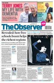 The Observer (UK) Newspaper Front Page for 16 April 2017