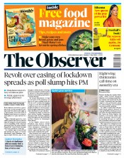 The Observer front page for 17 May 2020