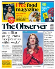 The Observer front page for 18 October 2020