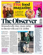 The Observer (UK) Newspaper Front Page for 18 November 2018