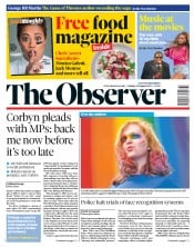 The Observer (UK) Newspaper Front Page for 18 August 2019