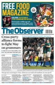 The Observer (UK) Newspaper Front Page for 19 March 2017