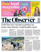 The Observer front page for 19 April 2020
