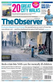 The Observer (UK) Newspaper Front Page for 1 February 2015