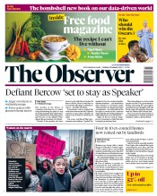 The Observer (UK) Newspaper Front Page for 20 January 2019