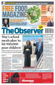 The Observer (UK) Newspaper Front Page for 21 May 2017