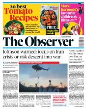 The Observer (UK) Newspaper Front Page for 21 July 2019