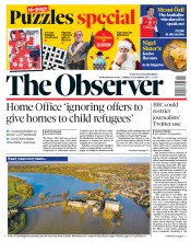 The Observer (UK) Newspaper Front Page for 22 December 2019