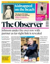 The Observer (UK) Newspaper Front Page for 23 June 2019