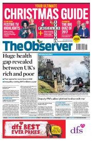 The Observer (UK) Newspaper Front Page for 24 December 2017