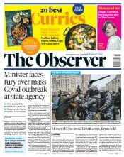 The Observer front page for 24 January 2021