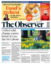 The Observer (UK) Newspaper Front Page for 24 February 2019