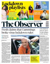 The Observer front page for 24 May 2020