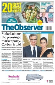 The Observer (UK) Newspaper Front Page for 24 September 2017