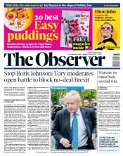 The Observer (UK) Newspaper Front Page for 26 May 2019
