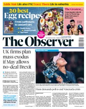 The Observer (UK) Newspaper Front Page for 27 January 2019