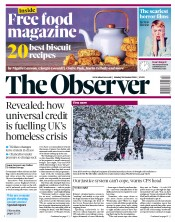 The Observer (UK) Newspaper Front Page for 28 October 2018