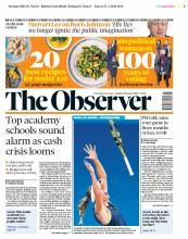 The Observer (UK) Newspaper Front Page for 28 January 2018