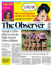The Observer front page for 28 February 2021
