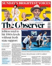 The Observer front page for 28 June 2020