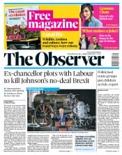 The Observer (UK) Newspaper Front Page for 28 July 2019