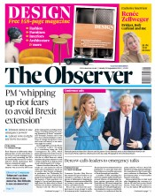 The Observer (UK) Newspaper Front Page for 29 September 2019