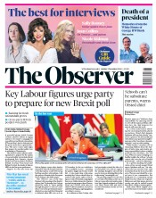 The Observer (UK) Newspaper Front Page for 2 December 2018