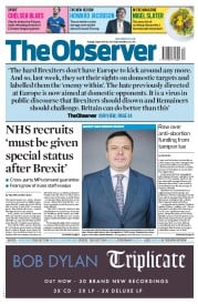 The Observer (UK) Newspaper Front Page for 2 April 2017