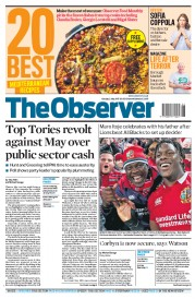 The Observer (UK) Newspaper Front Page for 2 July 2017